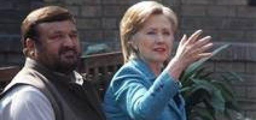 Mahmood / AP U.S. Secretary of State Hillary Clinton talks with Pakistani tribal leaders in Islamabad, Oct. 30, 2009.