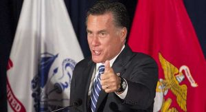 Mitt Romney makes a campaign stop on Sept. 27 at an American Legion post in Springfield, Virginia.