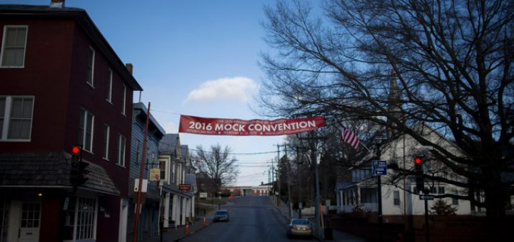 The mock convention has successfully predicted the nominee of the party not in the White House in 19 of 25 attempts. Credit: Chet Strange for The New York Times