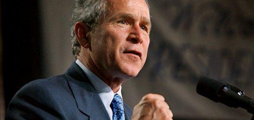 President George W. Bush makes remarks during a visit to Booker T. Washington High School in Atlanta, Ga. Jan 31, 2002.