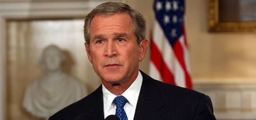 President George W. Bush addresses the nation from the Cabinet Room at the White House