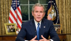 From the Oval Office, George W. Bush Addresses the Nation on Immigration.