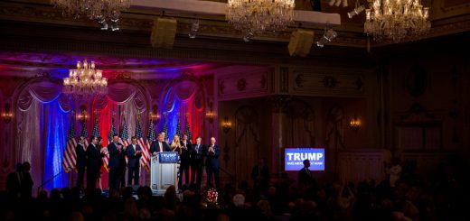 Donald J. Trump speaking at an election night news conference at his Mar-a-Lago estate in Palm Beach, Fla., on Tuesday, when he won four primaries.