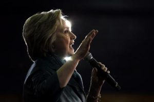 Democratic presidential candidate Hillary Clinton speaks during a campaign stop at the University of Bridgeport in Bridgeport, Conn.