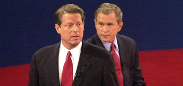 Al Gore and George W. Bush