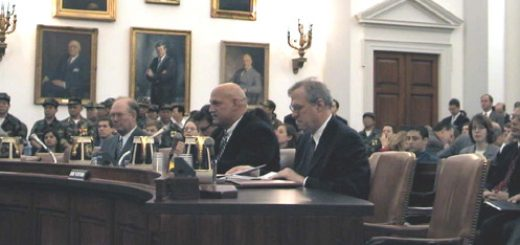 Jesse Ventura at the hearing on the future of WTO