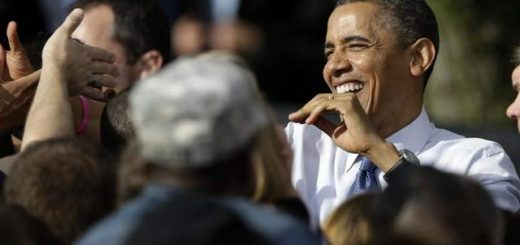 President Barack Obama greets supporters after speaking at a campaign stop Wednesday, Oct. 24, 2012 at the Mississippi Valley Fairgrounds in Davenport, Iowa.