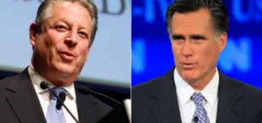 Al Gore / Mitt Romney composite photo.
