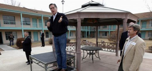 Republican presidential candidate and former Massachusetts governor Mitt Romney speaks at a campaign rally in Grand Junction, Colo., Monday, Feb. 6, 2012 — one day before the Colorado caucuses.