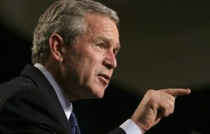 President George W. Bush discusses Social Security at the Lake Nona YMCA Family Center in Orlando, Fla., Friday, March 18, 2005.