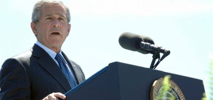 George W. Bush speaks at Coast Guard commencement