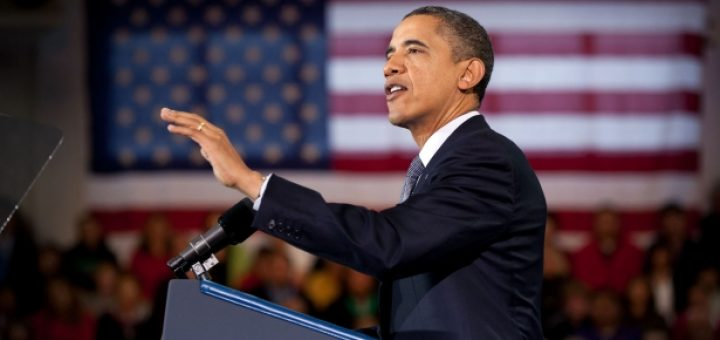 President Barack Obama delivers remarks in Osawatomie, Kansas
