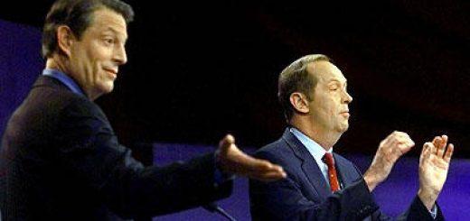 Photo of Al Gore and Bill Bradley