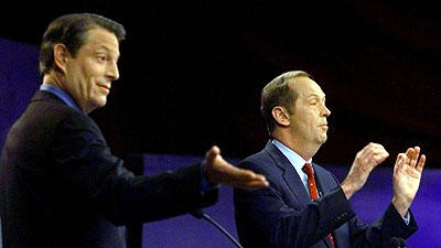Photo of Al Gore and Bill Bradley