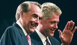 1996 Presidential Candidates Bob Dole and Bill Clinton
